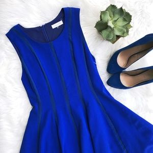 Sugarlips // cobalt blue A-line dress